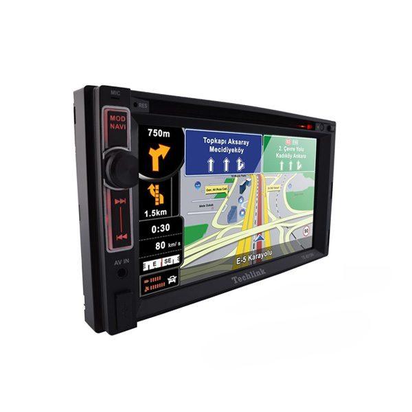 Techlink TE-6210 Double-Din Navigasyon / DVD / Tv / SD Card / USB Çalar